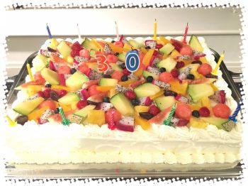 30歳バースデーケーキ